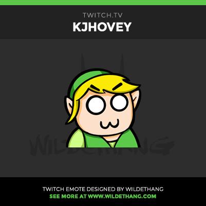 KJHovey's Zelda Twitch Emote designed by WildeThang