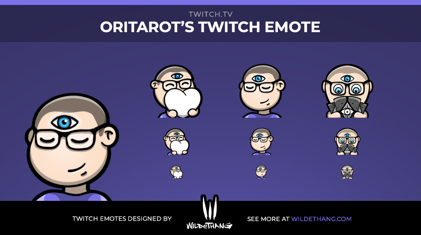 Oritarot's Custom Twitch Emotes designed by WildeThang
