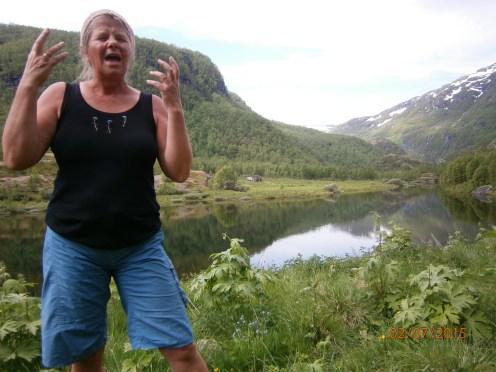 Norwegian folklorist, organic farmer, and storyteller extraordinaire, Jorunn Barane.