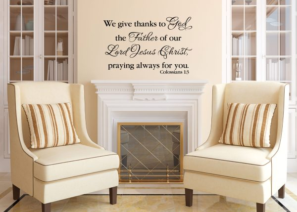Colossians 1:3 Vinyl Wall Decal