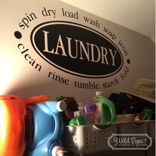 Laundry Vinyl Wall Decal
