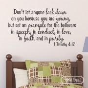1 Timothy 4:12 Vinyl Wall Decal 2