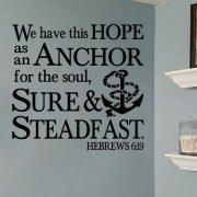 Hebrews 6:19 Vinyl Wall Decal 3