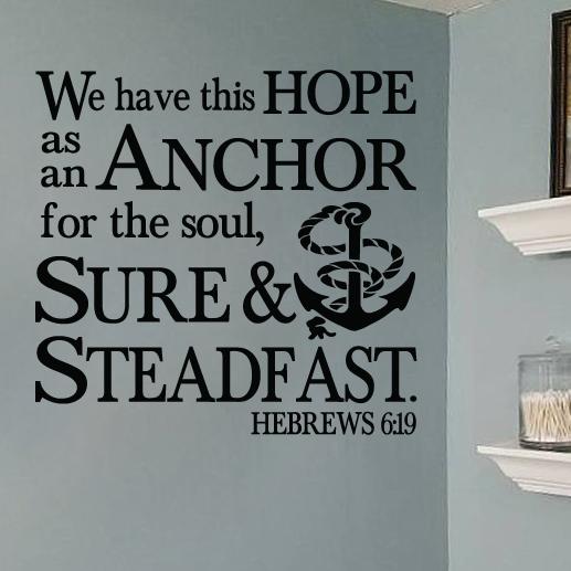 Hebrews 6:19 Vinyl Wall Decal 3