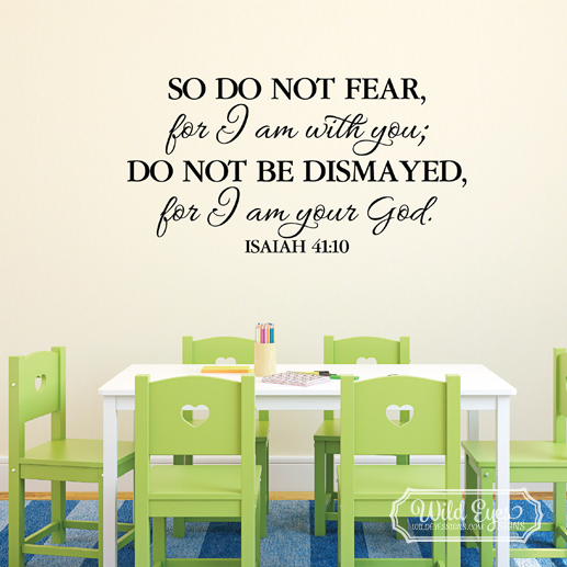 Isaiah 41:10 Vinyl Wall Decal 2