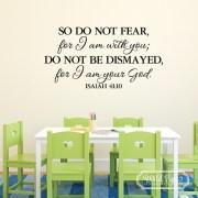 Isaiah 41:10 Vinyl Wall Decal 2