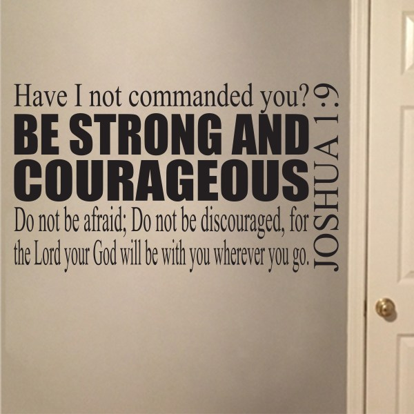 Joshua 1v9 Vinyl Wall Decal 4
