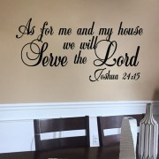 Joshua 24v15 Vinyl Wall Decal 9
