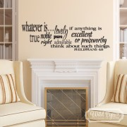 Philippians 4v8 Vinyl Wall Decal 1