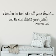 Proverbs 3v5-6 Vinyl Wall Decal 3