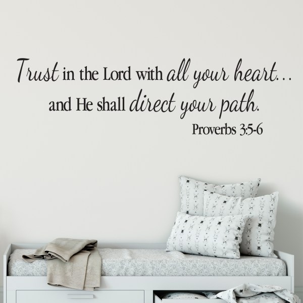 Proverbs 3v5-6 Vinyl Wall Decal 3
