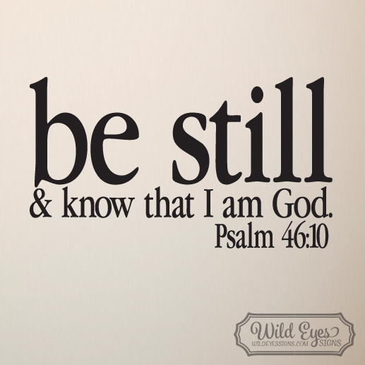 Psalm 46:10 Vinyl Wall Decal 3