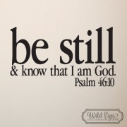 Psalm 46:10 Vinyl Wall Decal 3
