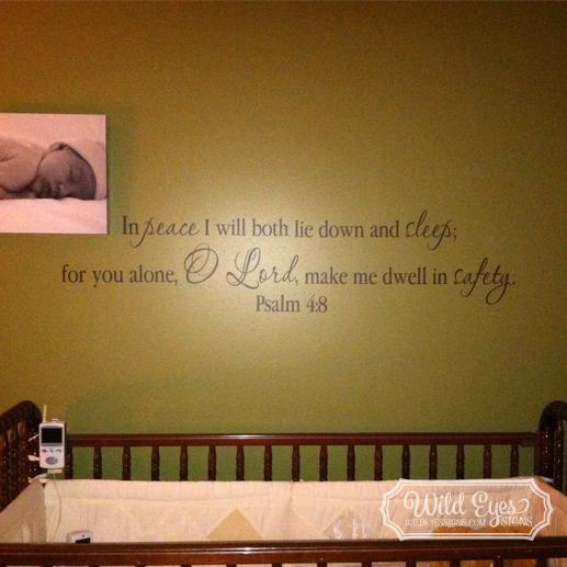 Psalm 4:8 Vinyl Wall Decal
