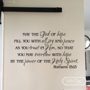 Romans 15v13 Vinyl Wall Decal 2