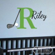 Golf Ball Tee Club Driver Personalized Monogram Vinyl Wall Decal