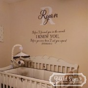 Jeremiah 1v5 Vinyl Wall Decal version 11