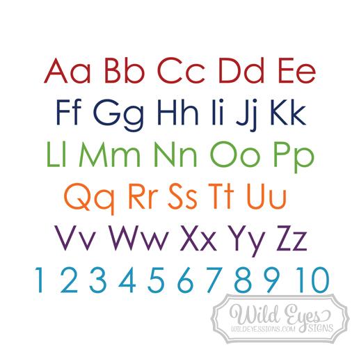 Alphabet Lettering Vinyl Wall Decal