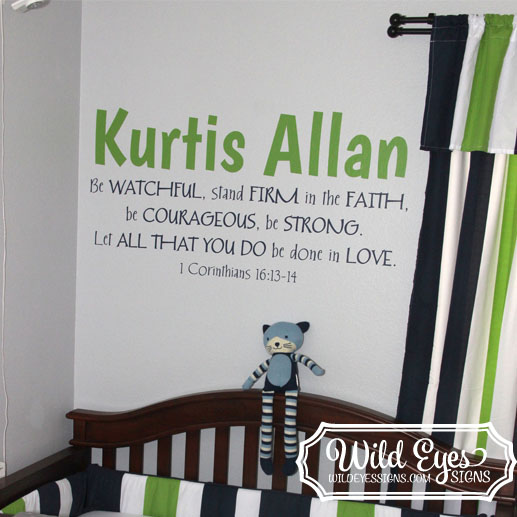 1 Corinthians 16v13 Vinyl Wall Decal
