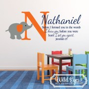 Jeremiah 1v5 Before I formed you in the womb Vinyl Wall Decal 14