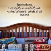 Psalm 139v14 Vinyl Wall Decal 1