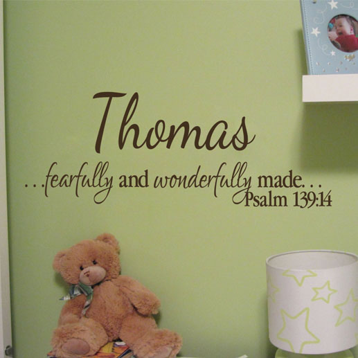 Psalm 139v14 Vinyl Wall Decal 6
