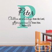 Psalm 127v3 Vinyl Wall Decal version 2