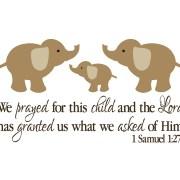 1 Samuel 1:27 Vinyl Wall Decal