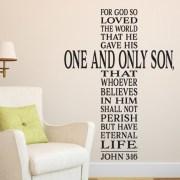 John 3:16 Vinyl Wall Decal version 5
