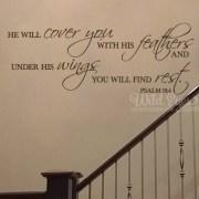 Psalm 91:4 Vinyl Wall Decal