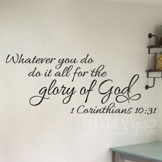 1 Corinthians 10:31 Vinyl Wall Decal