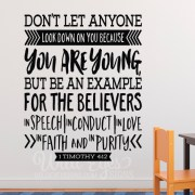 1 Timothy 4v12 Vinyl Wall Decal