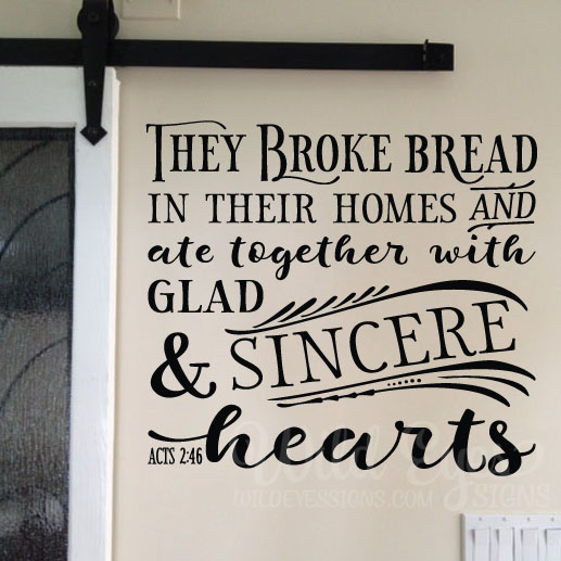 Acts 2:46 Vinyl Wall Decal