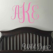 Vine monogram Vinyl Wall Decal