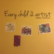 Every child is an artist Pablo Picasso Vinyl Wall Decal