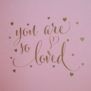 You are so loved with hearts Vinyl Wall Decal