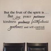 Galatians 5:22 Vinyl Wall Decal 6
