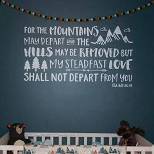 Isaiah 54:10 Vinyl Wall Decal