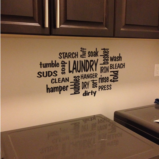 Laundry Word Collage Vinyl Wall Decal
