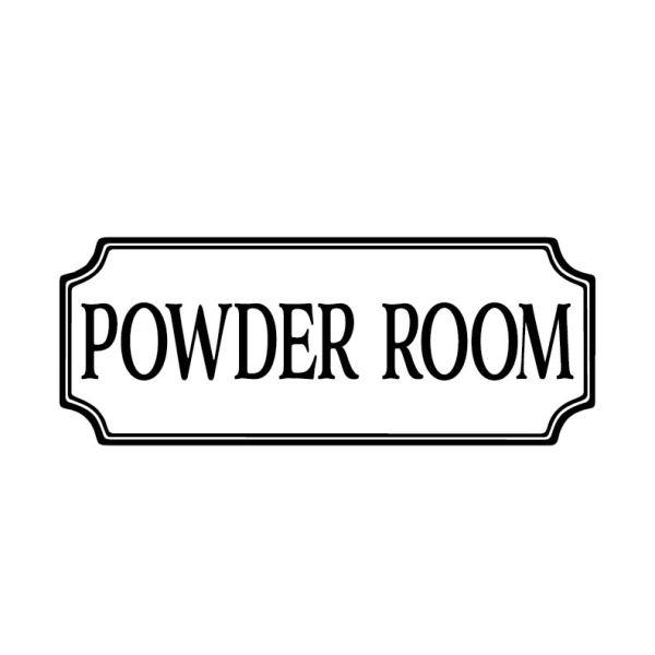 Powder Room Vinyl Decal