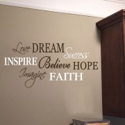 Love, Dream, Success Word Collage Vinyl Wall Decal