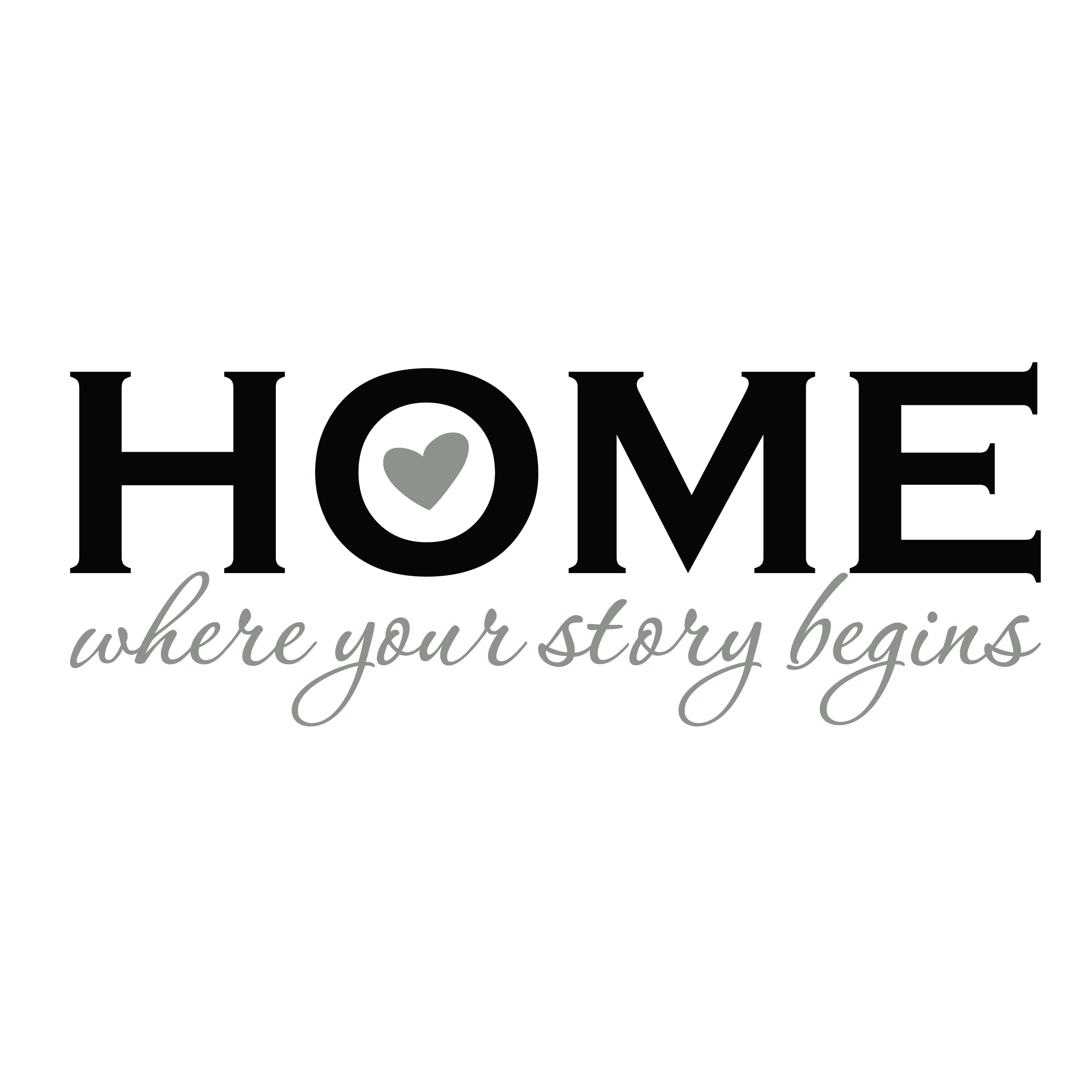 Home Where Your Story Begins Vinyl Wall Decal Home Decor