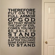 Ephesians 6:13 Vinyl Wall Decal 1