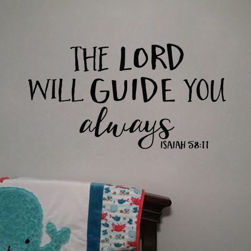 Isaiah 58:11 Vinyl Wall Decal 1