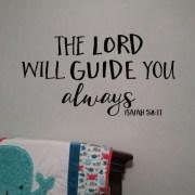 Isaiah 58:11 Vinyl Wall Decal 1