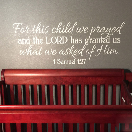 1 Samuel 1:27 Vinyl Wall Decal 2