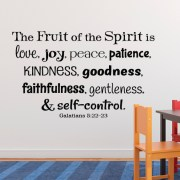 Galatians 5:22 Vinyl Wall Decal 5