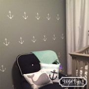Anchors Nautical Theme Vinyl Wall Decal