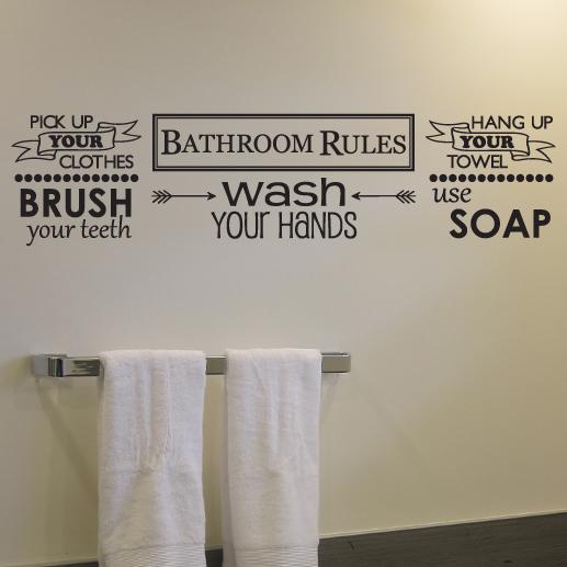 Bathroom Rules Vinyl Wall Decal