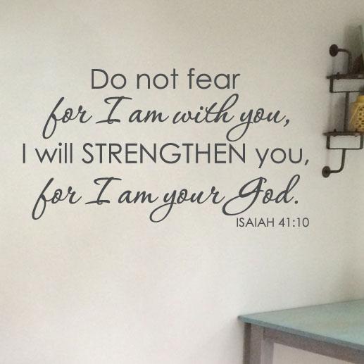 Isaiah 41:10 Vinyl Wall Decal 3